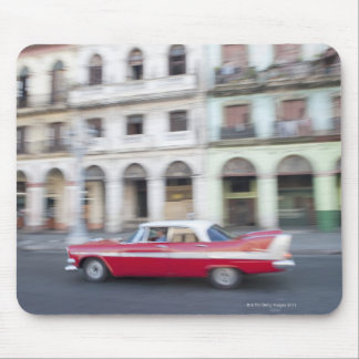 An old car cruising the streets of Havana, Cuba. Mouse Pad
