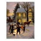 An Old Fashion Vintage Christmas Postcard