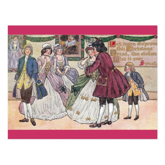 An Old Fashioned Christmas Ball Postcard