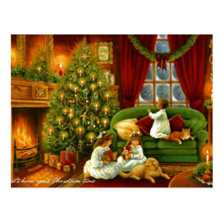 An Old Fashioned Christmas Postcard