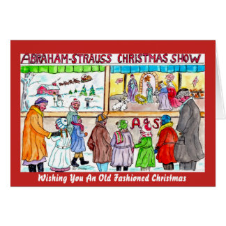 An Old Fashioned Life On The Stoop Christmas Card