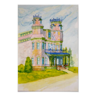 An Old Haunted House in Steven Point Wisconsin Poster