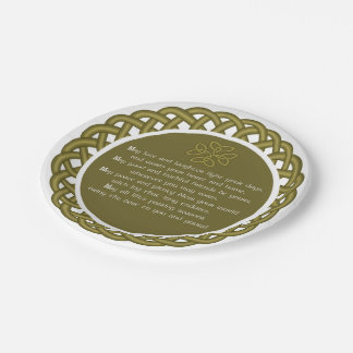 An Old Irish Blessing May Love And Laughter Paper Plate