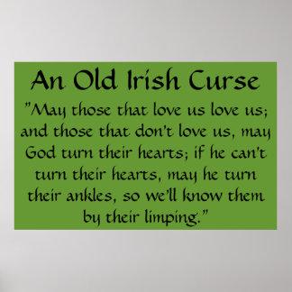 An Old Irish Curse Poster