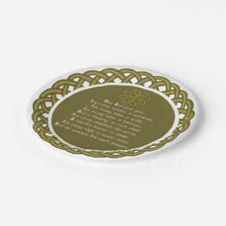 An Old Irish Prayer May God Give You 7 Inch Paper Plate