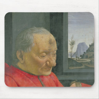 An Old Man and a Boy, 1480s Mouse Pad