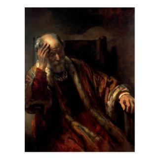 An Old Man in an Armchair Postcards