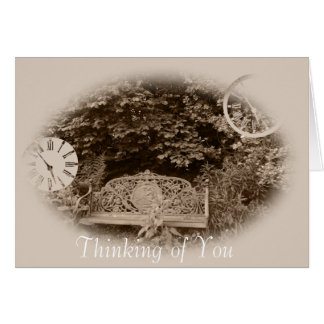 An old style picture showing memories of a day greeting card