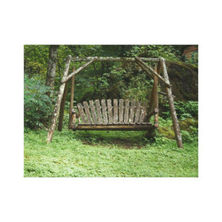 An old swing canvas print