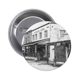 An Old Western Town 2 Inch Round Button