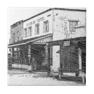An Old Western Town Ceramic Tile
