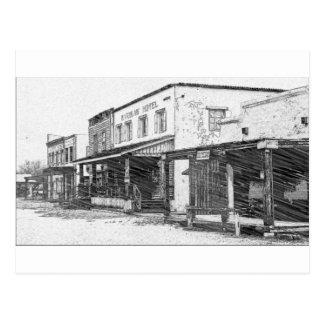An Old Western Town Postcard
