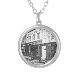 An Old Western Town Silver Plated Necklace
