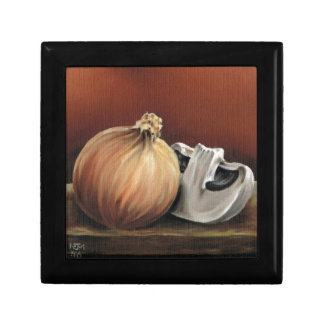 An onion and a mushroom gift box