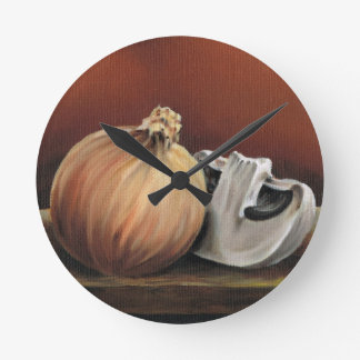 An onion and a mushroom round clock