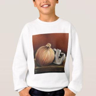 An onion and a mushroom sweatshirt