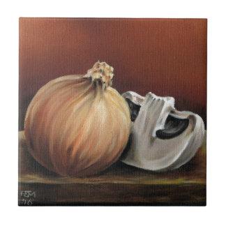 An onion and a mushroom tile