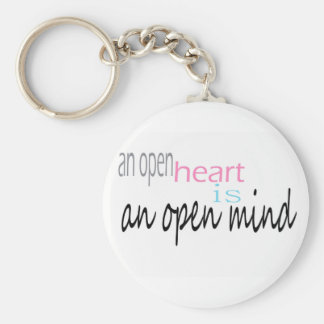 An open Heart is an open mind Keychain