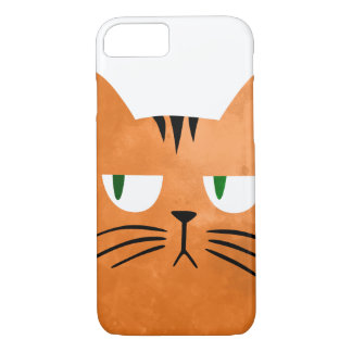 An orange cat with an attitude iPhone 8/7 case