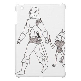 An Orc and Goblin (lined or gold) iPad Mini Case
