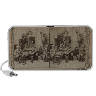An Orchestra of Boys Vintage Stereoscope Card Travel Speakers