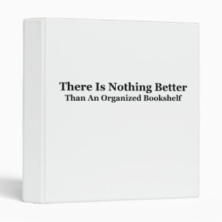An Organized Bookshelf 3 Ring Binder