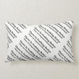 An Organized Bookshelf Lumbar Pillow