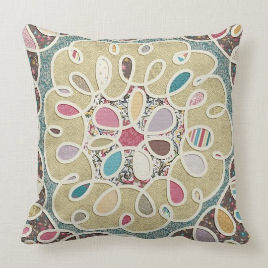 An Ornate Love Reversible Throw Pillow