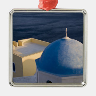 An Orthodox Church near the sea, Oia Santorini Metal Ornament