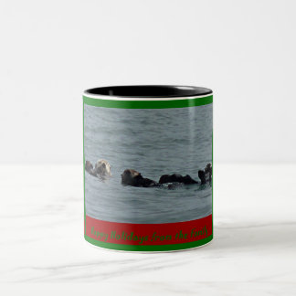 An Otterly Happy Holiday Sea Otter Mug