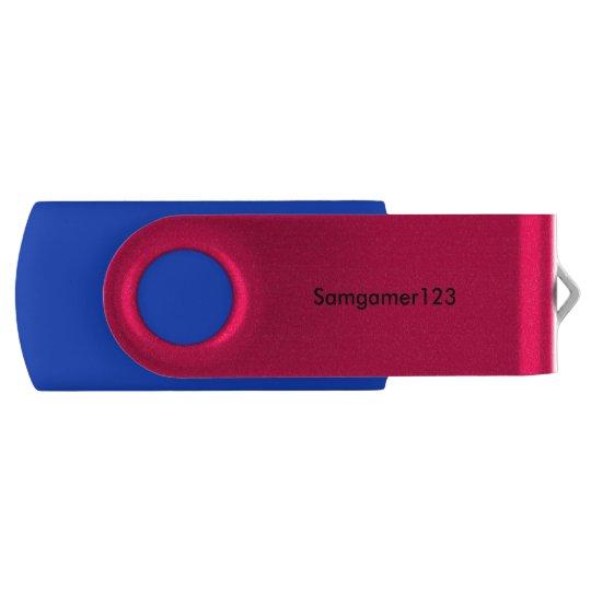 An samgamer123 flash drive swivel USB 2.0 flash drive