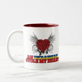 An Ukrainian Stole my Heart Two-Tone Coffee Mug