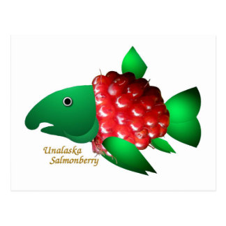 An Unalaska Salmonberry Postcard