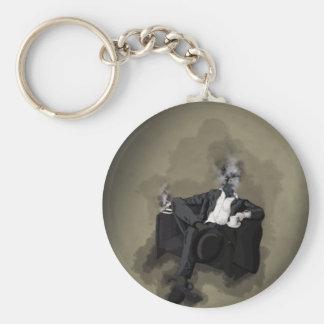 An Uncomfortable Gentleman Basic Round Button Keychain