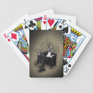 An Uncomfortable Gentleman Bicycle Playing Cards