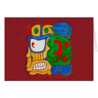AN UNNAMED MAYAN GLYPH FROM MEXICO CARD