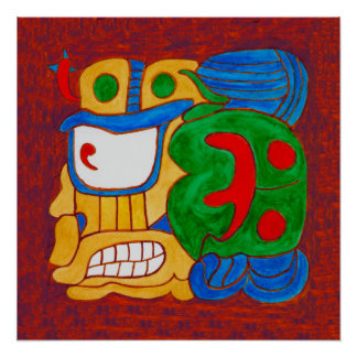 AN UNNAMED MAYAN GLYPH FROM MEXICO POSTER