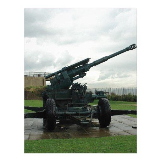 An WW2 anti-aircraft gun at Dover Castle Letterhead Template