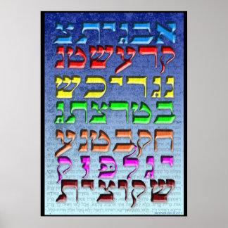 "Ana b""Koach ~ Initial Letters ~ Elijah Poster"
