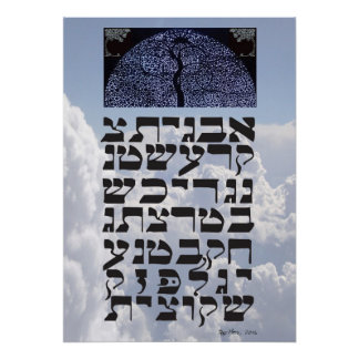 "Ana b""Koach ~ Initial Letters Poster"