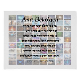 Ana Beko'ach - 42 letter Name of God Poster