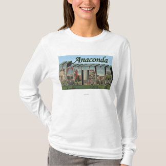 Anaconda, Montana - Large Letter Scenes T-Shirt