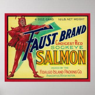 Anacortes, Washington - Faust Salmon Case Label Poster