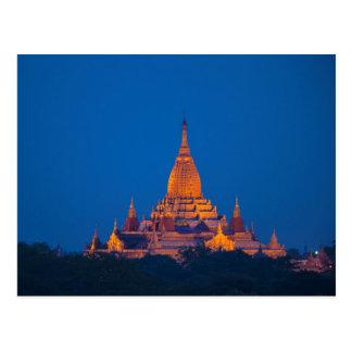 Anada Temple At Twilight Postcard