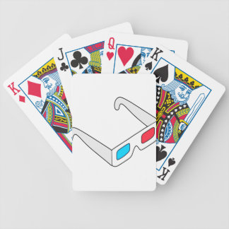 Anaglyph Glasses Bicycle Playing Cards