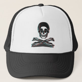 Anaglyph Style Crossbones Trucker Hat
