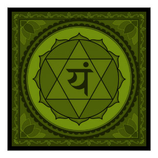 Anahata ou affiche de chakra de coeur