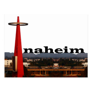 Anaheim CA Skyline with Anaheim in the Sky Postcard