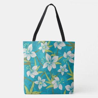 Anaina Hou Hawaiian Tropical Floral Beach Bag