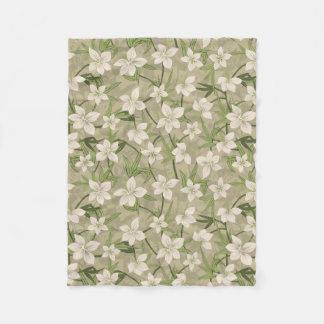Anaina Hou Hawaiian Tropical Floral Fleece Blanket